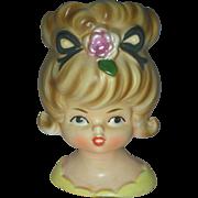Vintage Inarco Teen Headvase Head Vase Planter
