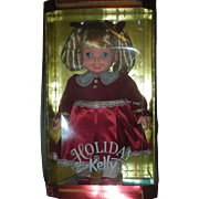 Vintage Holiday Kelly 15 inch Doll by Mattel Little Sister of Barbie