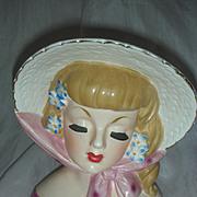 Vintage Lady Headvase Headvase Planter Mid Century