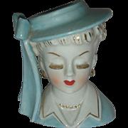 Vintage Mid Century Head Vase Planter Head Vase