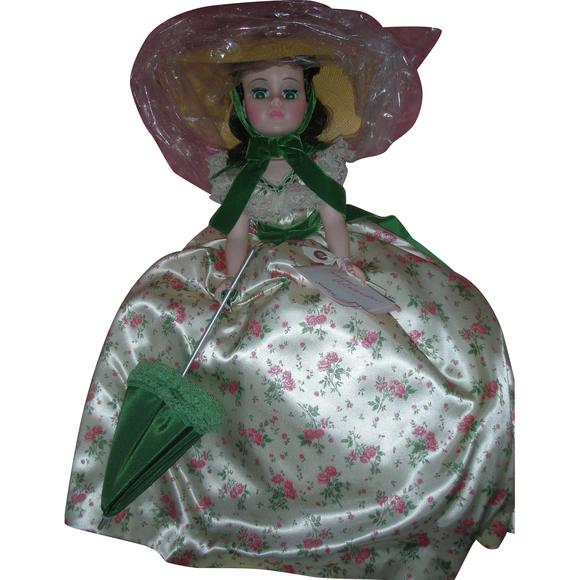 Madame Alexander Portrait Scarlett O'Hara Doll GWTW 21 Inch #2255 Picnic Dress Mint in Box Fashion Doll