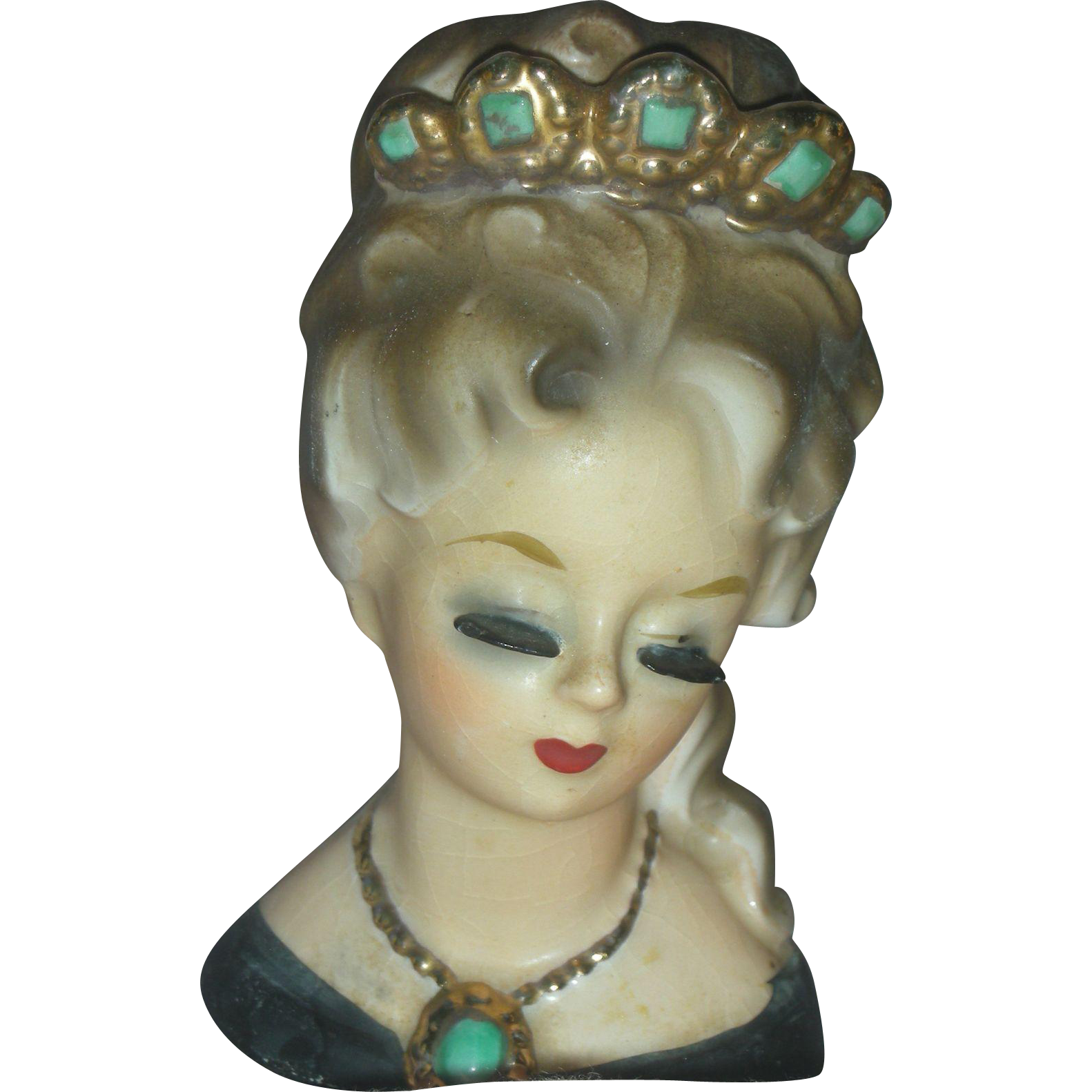 Mini Lady Aileen Inarco Head Vase Planter From Charlottewebcollectibles On Ruby Lane