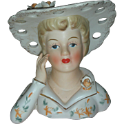 Vintage Lady Head Vase Planter Headvase