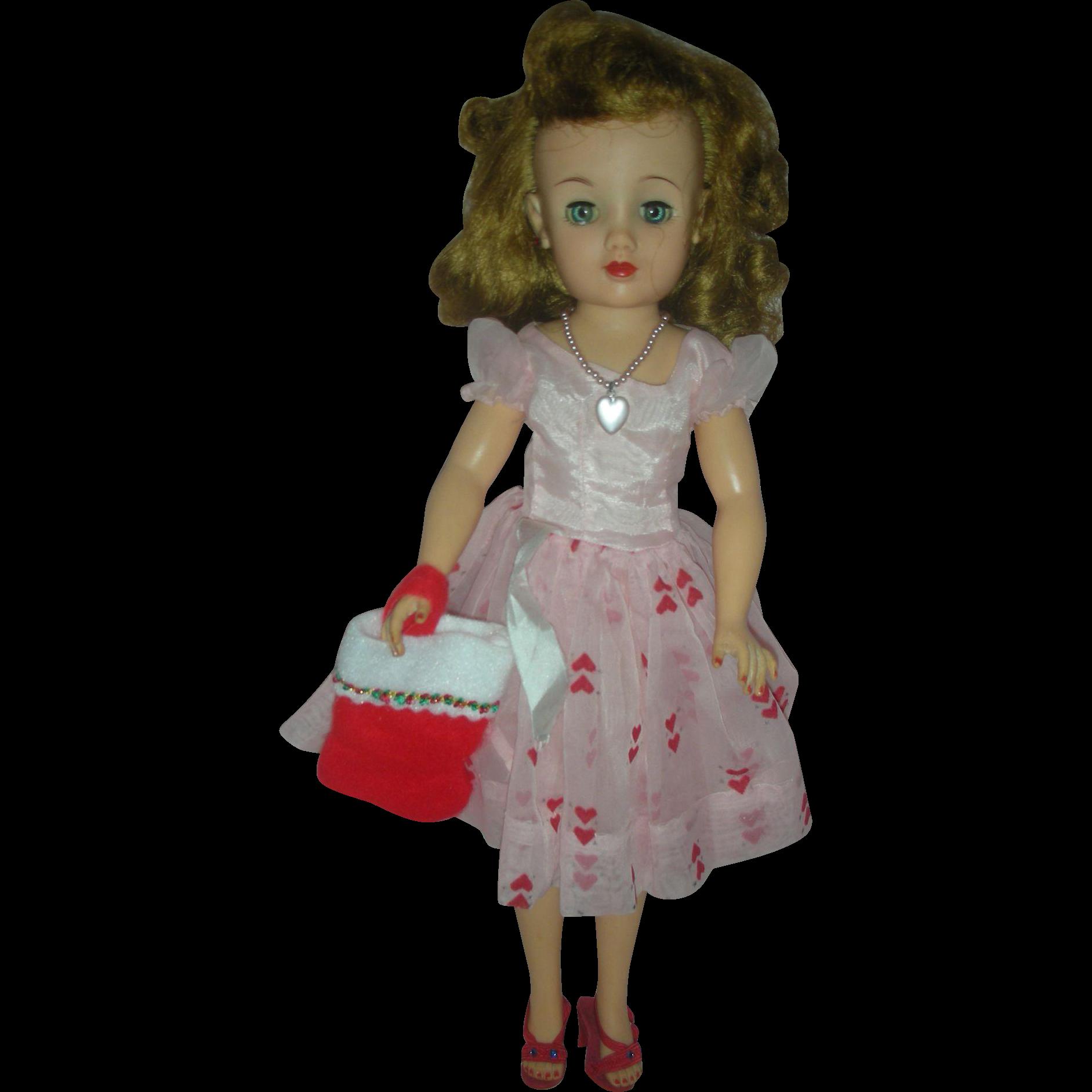 Vintage IDeal Miss Revlon Fashion Doll wearng Original Dress