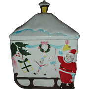 Vintage Christmas Cookie Jar Mid Century Modern Japan Santa