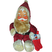 Vintage Rubber Face Toy Stuffed Santa Doll Mid Century Genie Toys