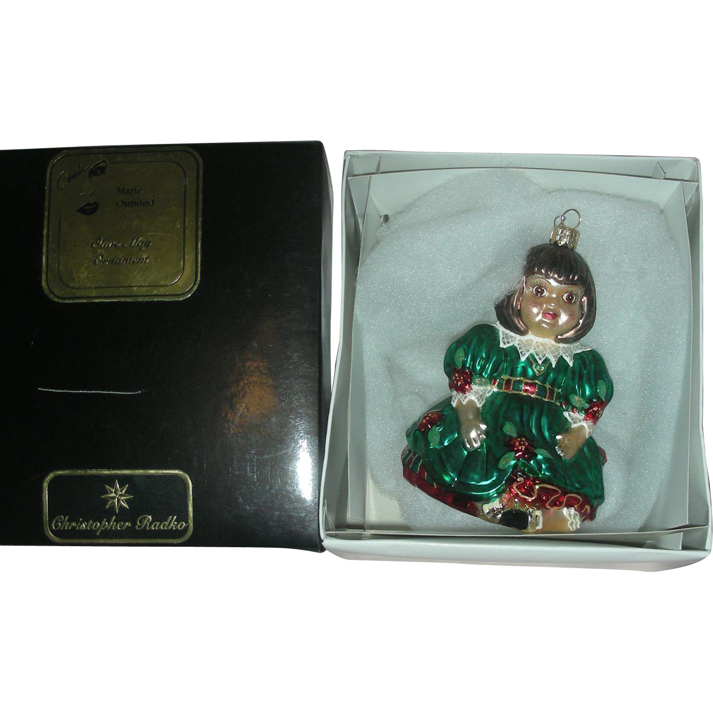 Christopher Radko Christmas Ornament Olive May Doll Marie Osmond
