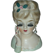 Tiny Vintage Inarco Lady Headvase Planter Head Vase