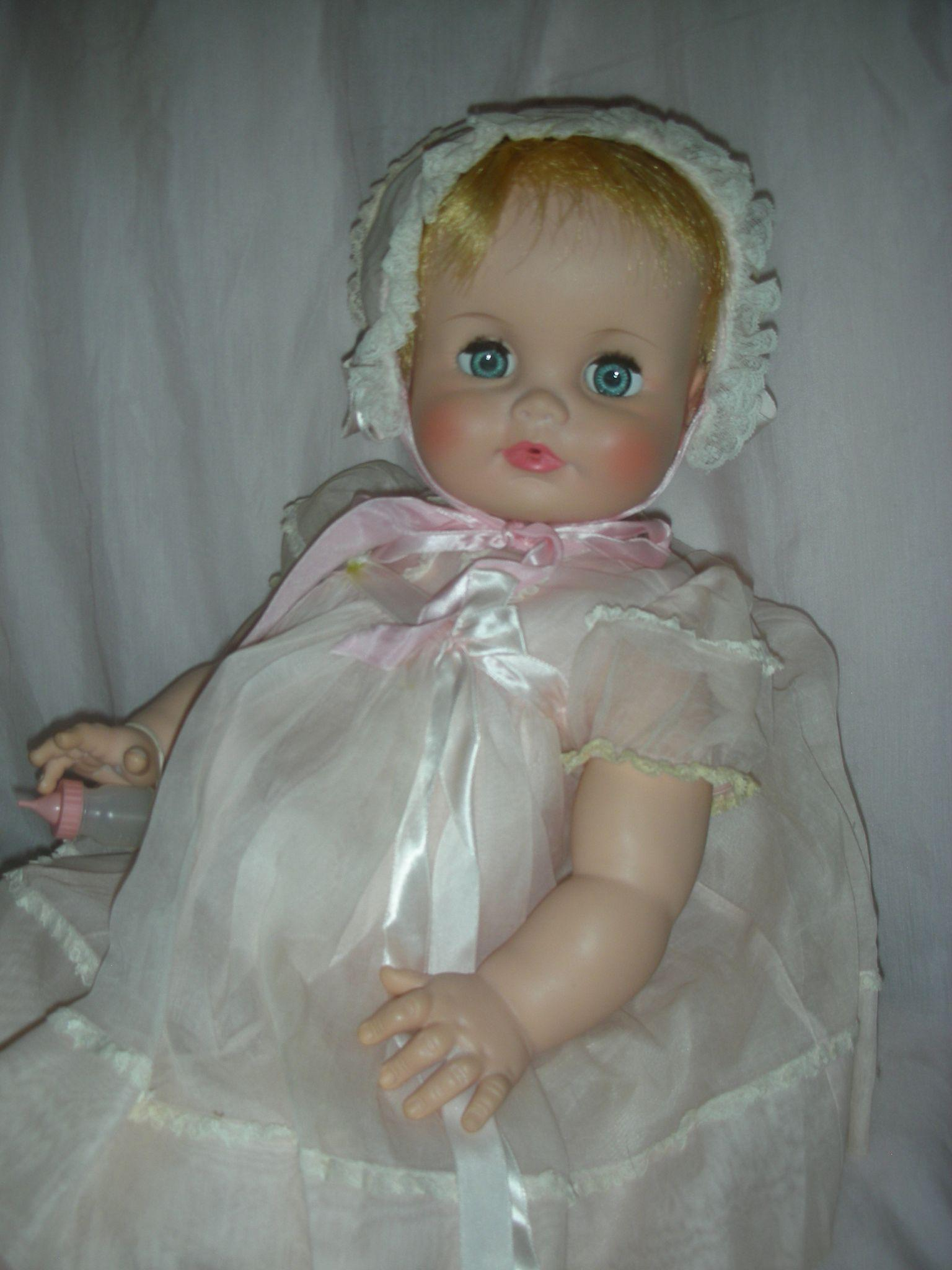 Rare Madame Alexander Baby Genius Flirty Eye Doll 21 Inch