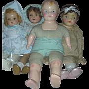 4 Composition Dolls to Restore Horsman Petite Effanbee
