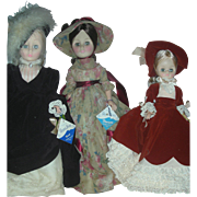 3 Vintage Effanbee Fashion Dolls