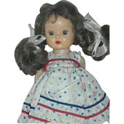 Vintage Muffie NASB Doll Wearing Original Dress
