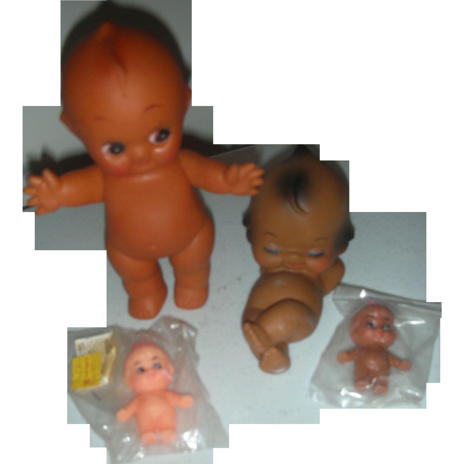 4 Vintage Kewpie Dolls