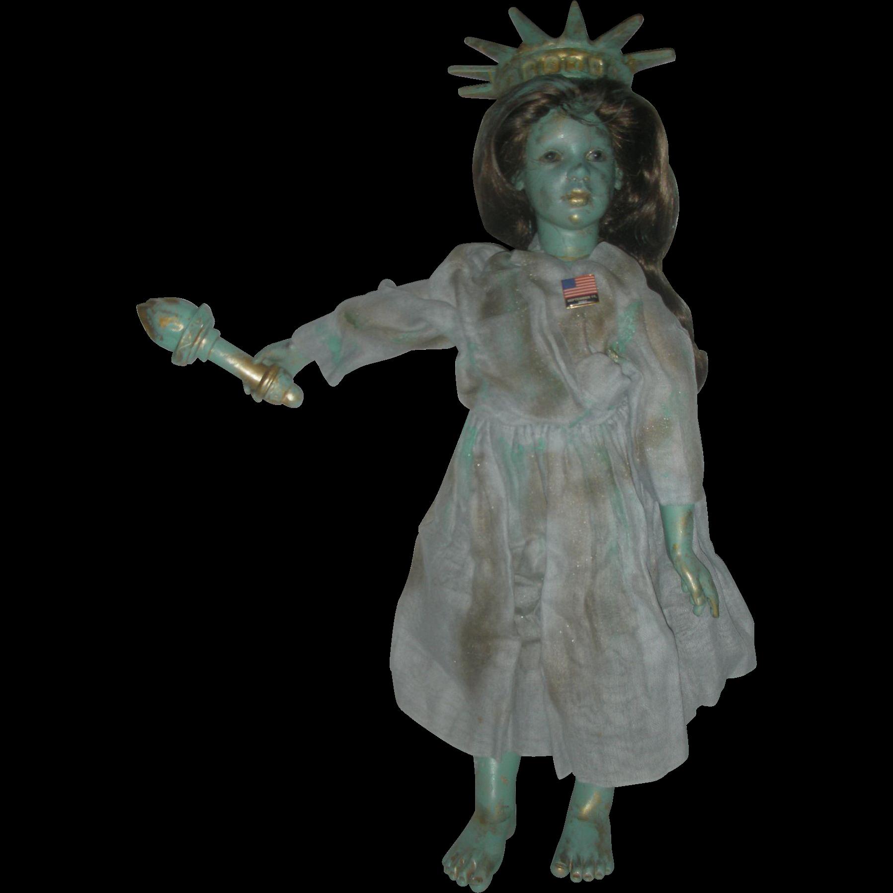 Very Rare Doll Artist Zofia and Henry Zawieruszynski Commerative Liberty Doll