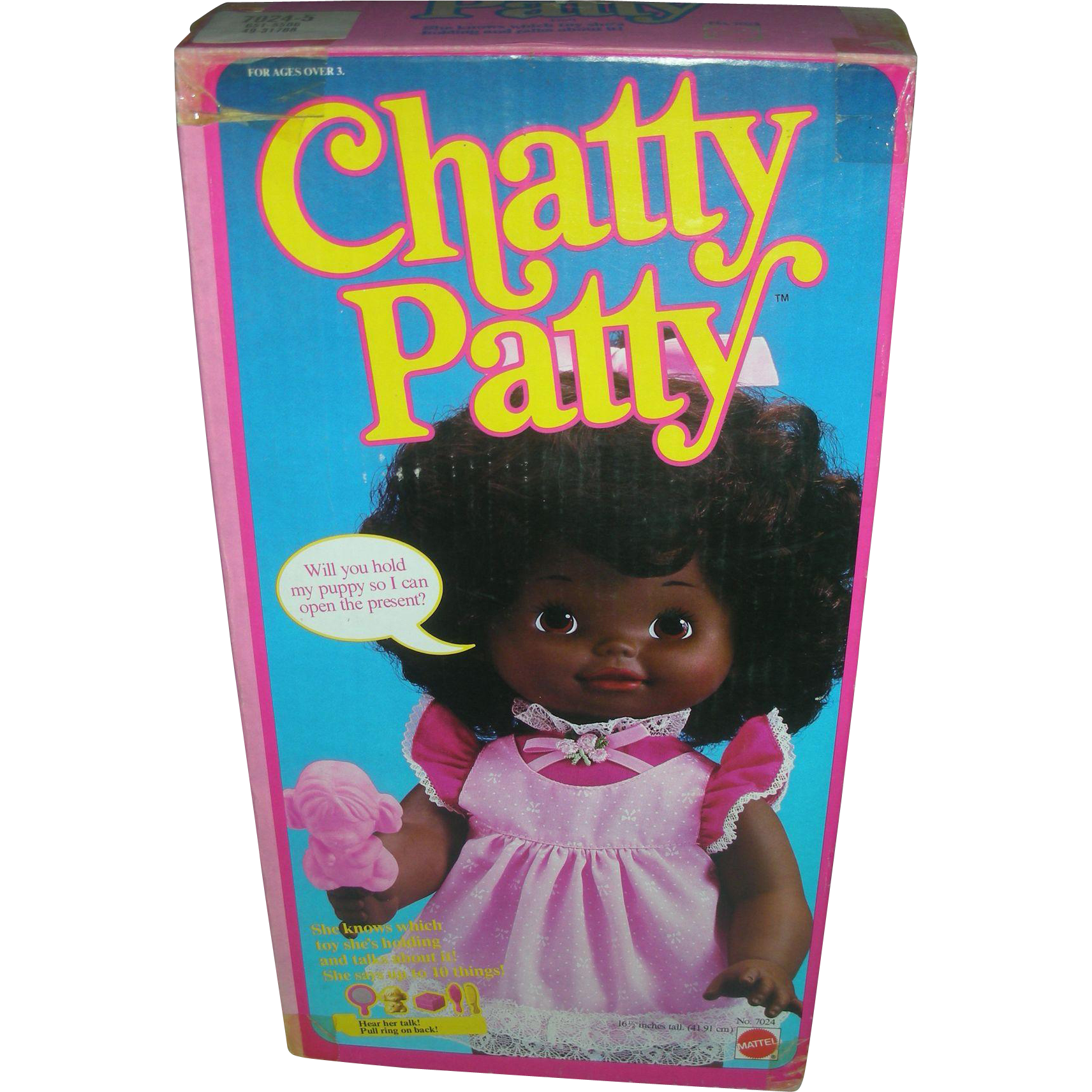 Vintage Mattel Chatty Patty Talking Brown Doll NRFB