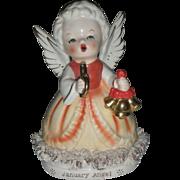 Vintage January Birthday Angel Figurine