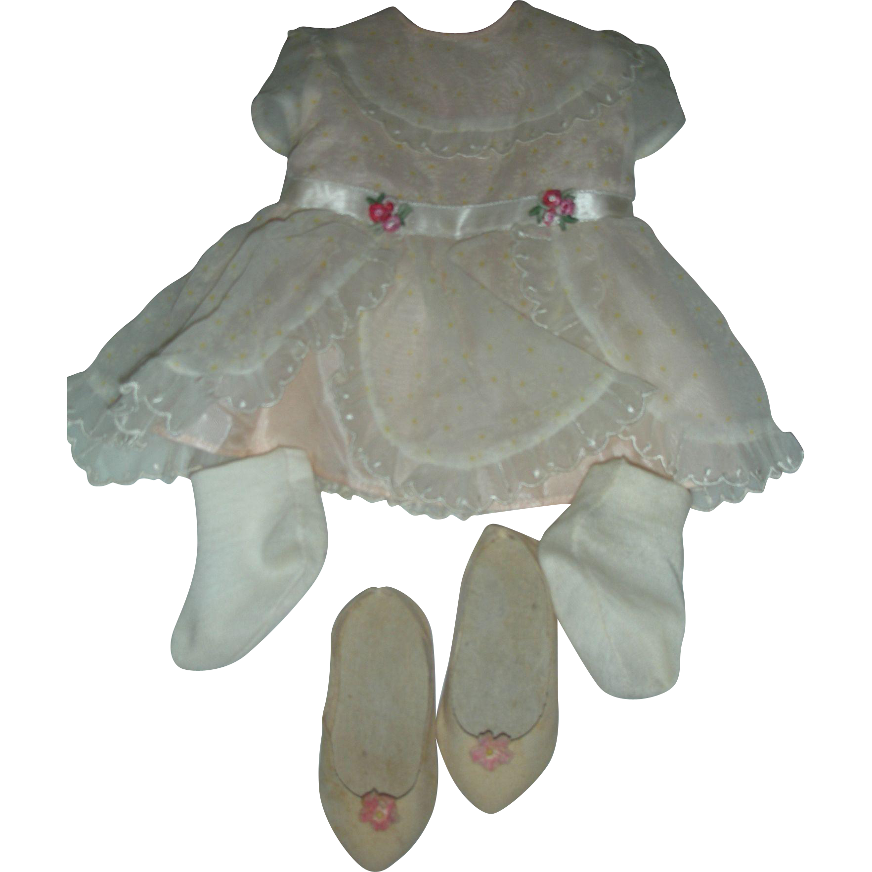 Rare Mattel Chatty Cathy Doll Sunday Visit Dress