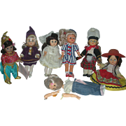 Lot of 8 inch Dolls Vogue Ginny and Madame Alexander