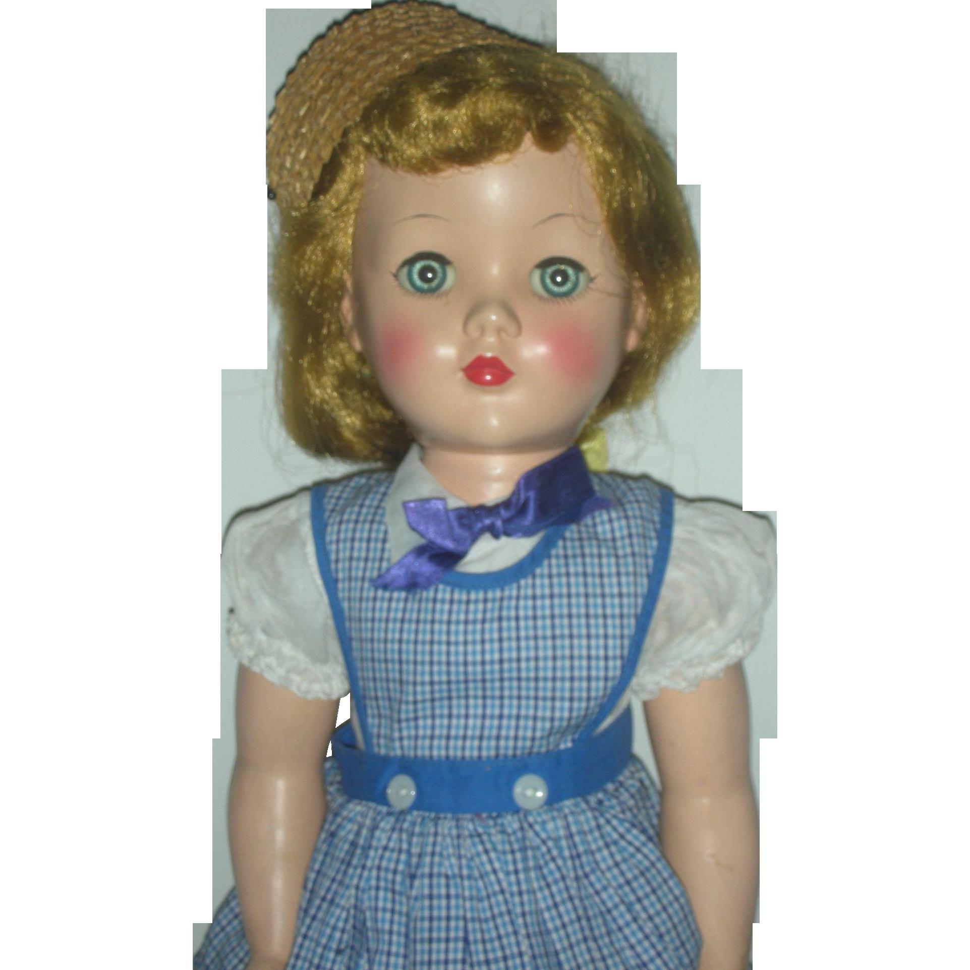 Vintage Effanbee Hard Plastic 19 inch Honey Walker Doll All Original