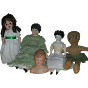 Vintage Lot of China and Bisque Type Dolls
