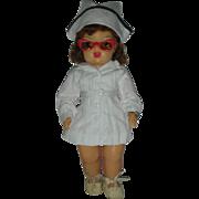 Vintage 1950s Terri Lee Nurse Doll Wearing Tagged RN Uniform