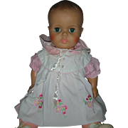 Vintage 1960s Drink and Wet 24 inch Molded Hair Baby Doll Play Pal Size
