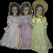Vintage Madame Alexander Wendy Ann Composition Bridemaids dolls