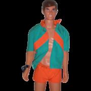 Vintage 1969 Mod Era Mattel Talking Ken Doll Barbie Family All Original with Wrist tag