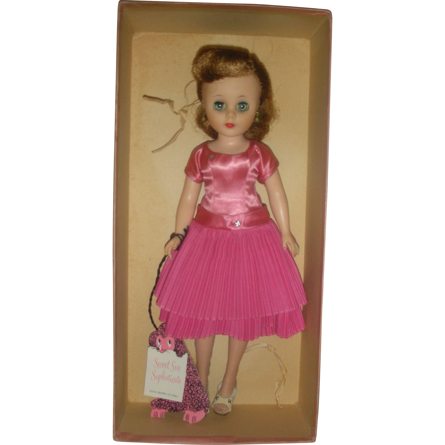 American Character 1950s Sweet Sue Sophisticate fashion Doll 12 inch Mint in Box Tea Time