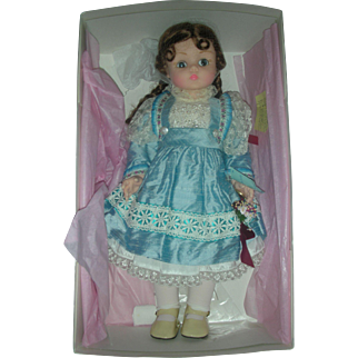 Madame Alexander Blue Dupionne Kelly Doll Mint in Box 20 Inch