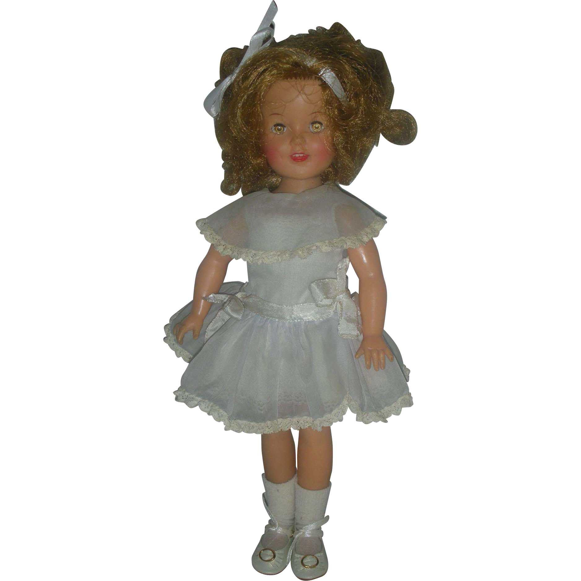 Vintage 1950s Vinyl Shirley Temple 12 inch Doll
