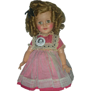 Vintage IDeal 15 inch Shirley Temple Doll 1950s wearing Original Dress