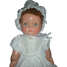 Vintage HTF Effanbee Baby Bright Eyes Doll Small 17 inch Size Version