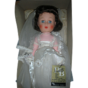 Vintage Mint in Box R&B Nanette Bride Doll 1950s Walker Doll Arranbee