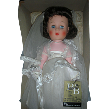 Vintage Mint in Box R&B Nanette Bride Doll 1950s Walker Doll Arranbee