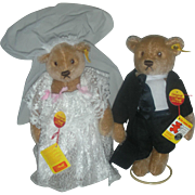 Steiff Bear Bride and Groom Bears Germany
