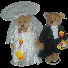 Steiff Bear Bride and Groom Bears Germany