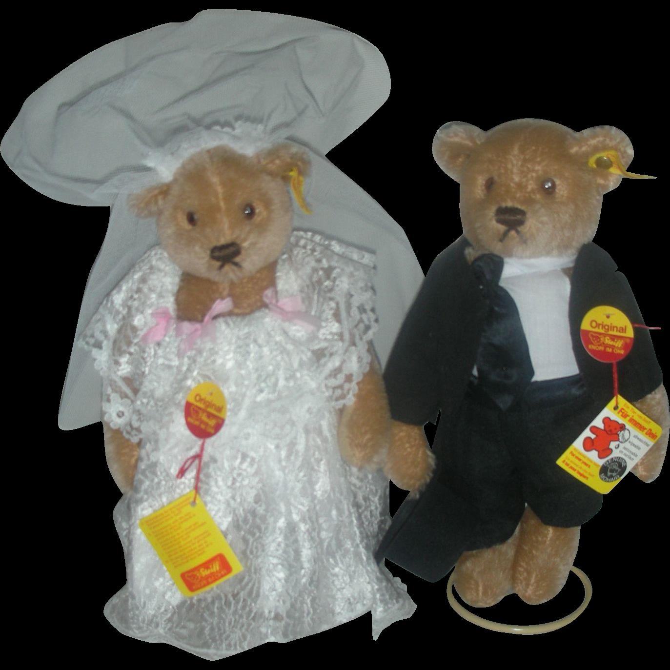 Steiff Bear Bride and Groom Bears Germany from