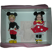 Madame Alexander Doll Mickey and Minnie Mouse Set in Box #31641