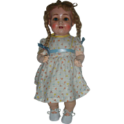 Konig & Wernicke German Bisque Character Toddler Doll Flirty Eyes Wobble Tongue and Breather