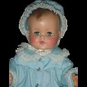 Vintage 1950's Madame Alexander Baby Kathy Vinyl Moled Hair Baby Doll