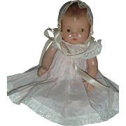 Vintage Effanbee Baby Tinyette Composition Doll 7 inch