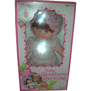 NRFB Vintage 1980s Strawberry Shortcake Blowkiss Baby Doll by Kenner
