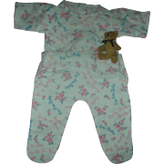 Rare in Excellent Condition Effanbee Dy-Dee Baby Doll Drop Seat Footed Pajamas Early to Bed Early to Rise Pjs or Sleeper
