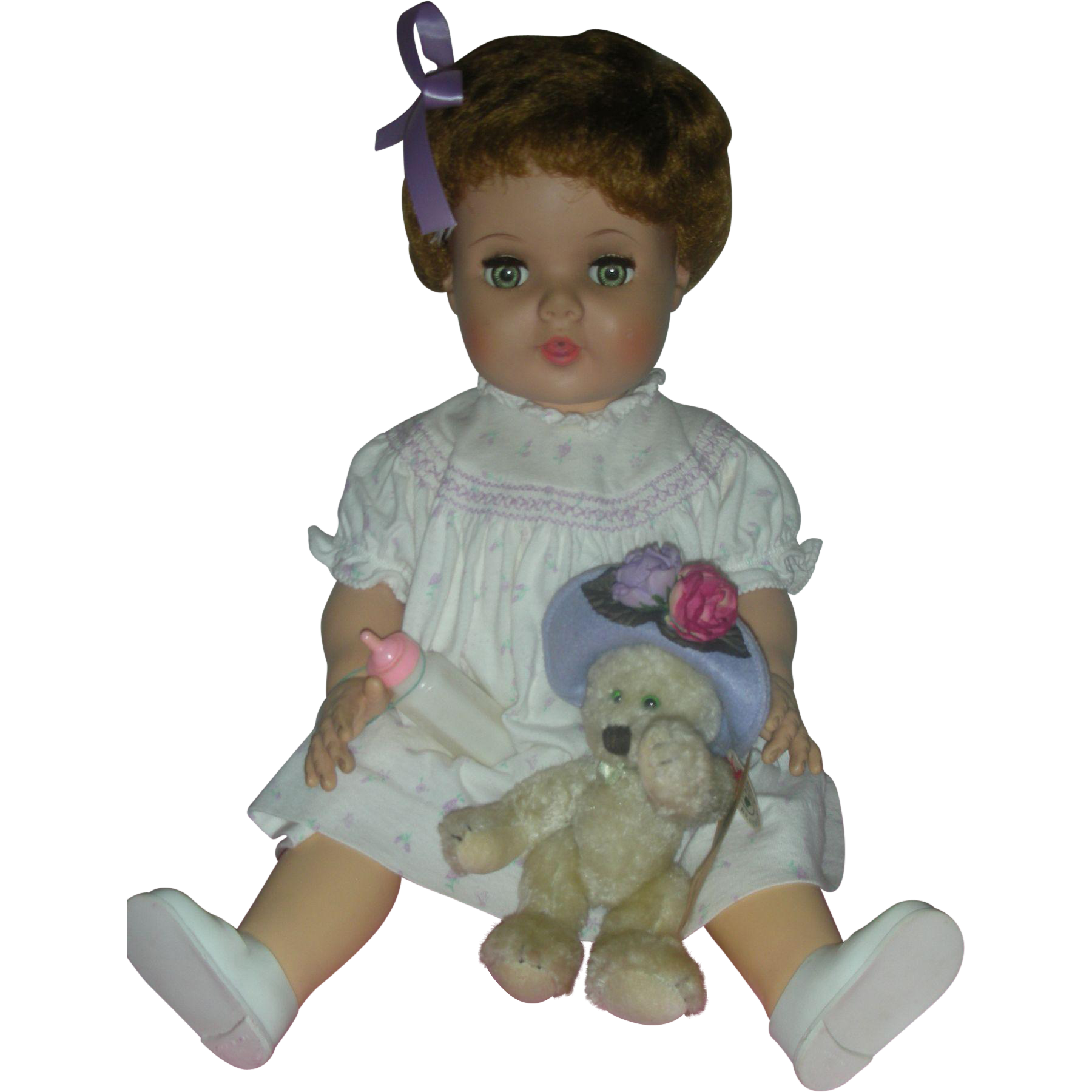 Vintage American Character Toodles Toddler Doll 22 inch Playpal Doll Flirty Eyes