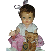 Vintage 15 inch Tiny Tears Doll by American Character 1950's