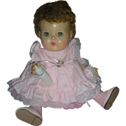 Vintage 12 inch American Character Tiny Tears Doll Rock A bye eyes