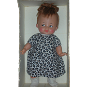 Vintage Ideal Baby Pebbles Flintstone Doll in Box 15 inch 1960's