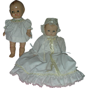 Vintage Composition Baby Dolls One Marked Effanbee Patsy Baby other Composition Toddler Doll