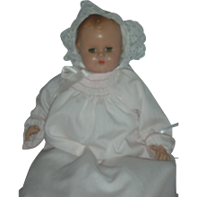 Vintage Madame Alexander Small 12 inch  Baby Genius Doll with Working Crier